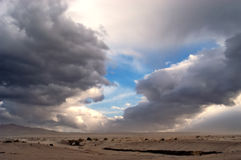 Desert rain storm royalty free stock images