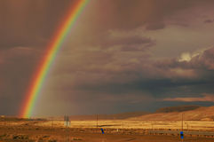 Desert Rainbow Royalty Free Stock Photos
