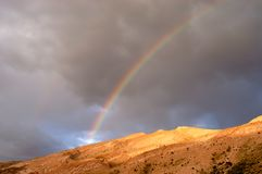 Desert rainbow. Rainbow over Death Valley Royalty Free Stock Images