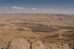 Desert;  the Ramon Crater Stock Photography