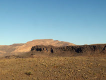 Desert range western sahara Royalty Free Stock Photo