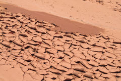 Desert red dry soil texture Royalty Free Stock Photography