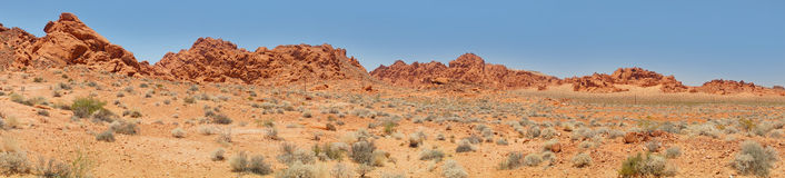 Desert and Red rock Formations in Red Rock Canyon near Las Vegas Stock Photography