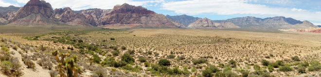 Desert and Red rock Formations in Red Rock Canyon near Las Vegas Stock Images