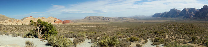Desert and Red rock Formations in Red Rock Canyon near Las Vegas Stock Photos