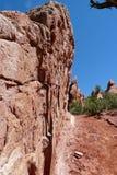 Desert Red Rock Wall Stock Photo