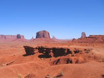 Desert with red rocks. And ground - Monument Valley National Park - United States Royalty Free Stock Image