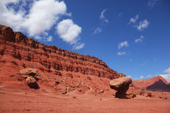 The  desert of red sandstone Stock Images