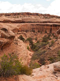 Desert red sandstone canyon Stock Photo