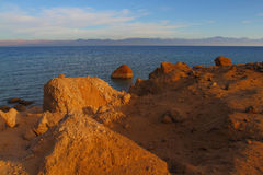 Desert and Red Sea Royalty Free Stock Photos