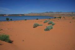 Desert reservoir Stock Photography