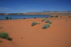 Desert reservoir stock photography