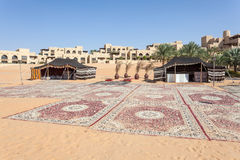 Desert resort in the Emirate of Abu Dhabi Royalty Free Stock Image