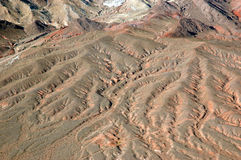 Desert Ripples. This was taken from a helocopter above the desert in Nevada Stock Photos