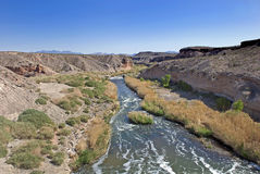 Desert River Stock Photo