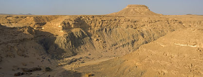 Desert river valley. Panoramic image of a desert river valley Stock Photography