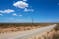 Desert road. In New Mexico / Roswell Stock Image