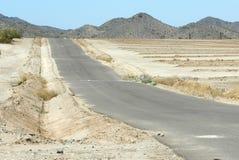 Desert Road. An empty road in the Arizona desert Stock Photos