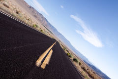 Desert road. In the southwestern United States Royalty Free Stock Image