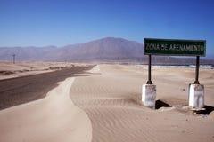 Desert on the road stock photos