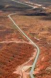 Desert Road. Highway running across the Utah desert Stock Photos