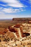 Desert Road. Highway on the canyon edge in the Utah desert Royalty Free Stock Photos