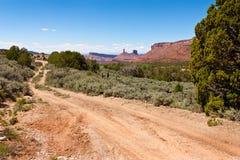 Desert Road. A Dirt Road in the Desert, Moab, Utah Stock Photos