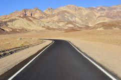 Desert Road. Road on Death Valley National Park, on the Mojave Desert, California, USA Royalty Free Stock Photography