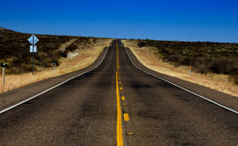 Desert road. Desolate road in rural Texas Royalty Free Stock Image