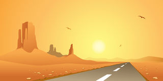 Desert Road stock illustration