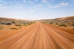 Desert road. Road running through a desert Stock Photography