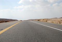 Desert road. Desert highway on the way to Dead Sea Stock Photo