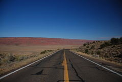 Desert road in Arizona Stock Photography