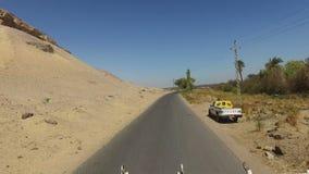 Desert road in Aswan, Egypt. stock footage
