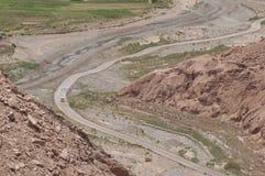 Desert road on Atacama, Chile Royalty Free Stock Image