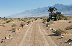 Desert road in Avrona nature reserve Royalty Free Stock Photos