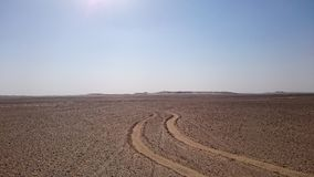 Desert road Stock Image