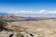 Desert road in California Stock Photo