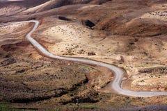 Desert road on Cape Verde Stock Photos