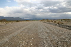 Desert Road - Death Valley. Road leading Death Valley Royalty Free Stock Photography