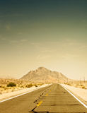 Desert road in Death Valley National Park, California Royalty Free Stock Photography