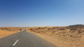 On the desert road Royalty Free Stock Photography