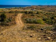Desert road Stock Images