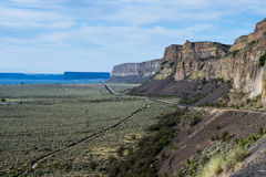 Desert road in eastern Washington state, USA Royalty Free Stock Photography