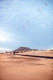 Desert road on Fuerteventura island Royalty Free Stock Photography