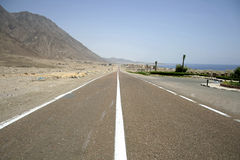 Desert Road In The Red Sea Stock Photos