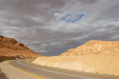 Desert Road, Israel Stock Photo