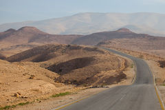 Desert road in Jordan Royalty Free Stock Photos