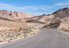 Desert road, Lake Mead, Nevada Stock Images