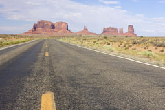 Desert Road in Monument Valley Stock Photo